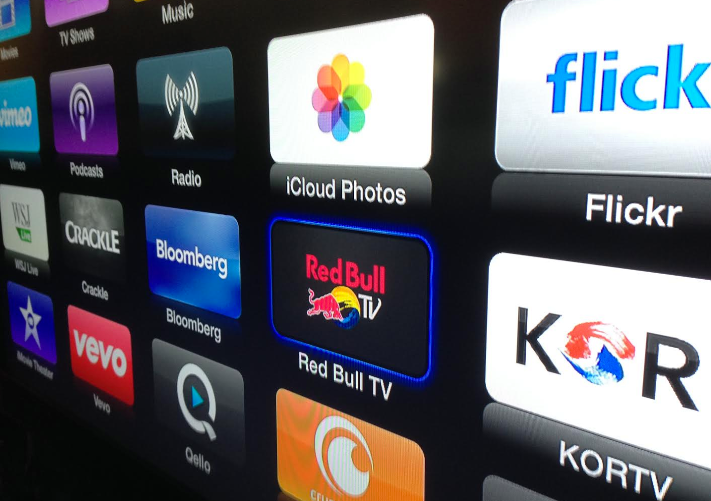 Red Bull channel on the old Apple TV